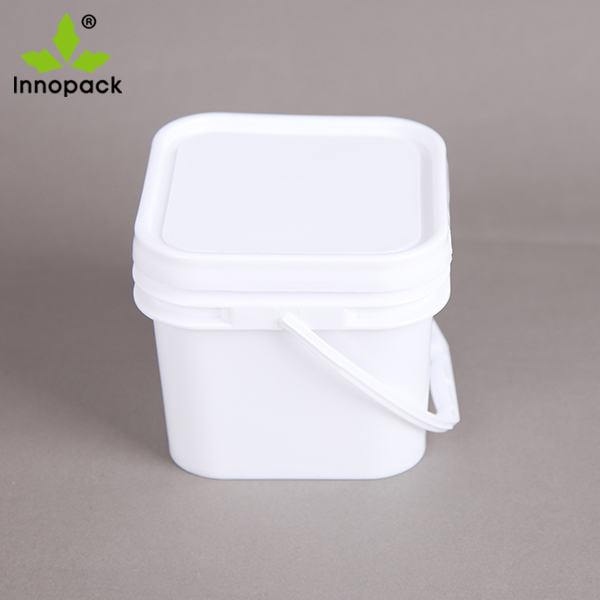 2 Liter Square Food Grade Plastic Buckets With Lid Innopack